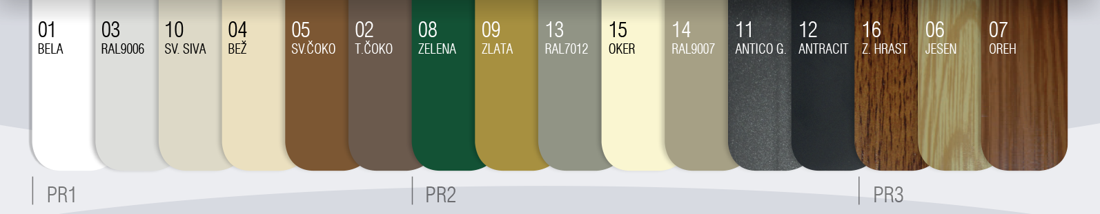 Barvni vzorec lamel 39mm ALU