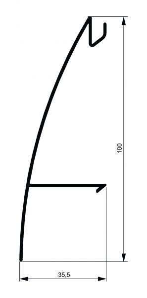Fiksni brisolej - model C 2