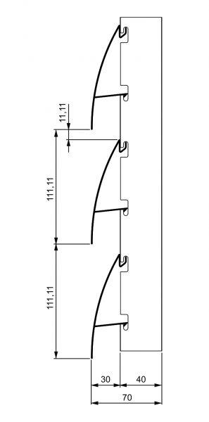 Fiksni brisolej - model C 3