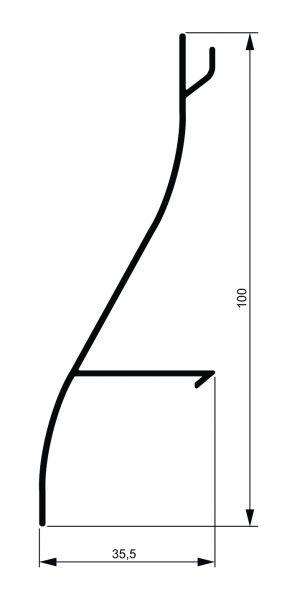 Fiksni brisolej - model S 2