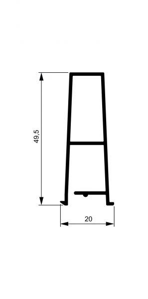 Fiksni brisolej - model V5 - 2