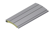 39 mm aluminium slat filled with polyurethane foam