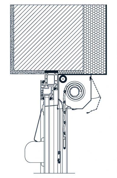 Predokenska roleta IDEAL - vgradnja 2 - s komarnikom